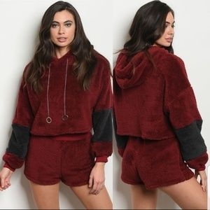 *JUST IN* BRAND NEW!! Hello Miss Sherpa hoodie set